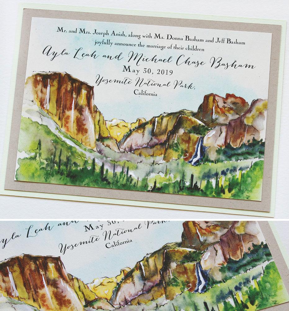 Yosemite Wedding Announcements