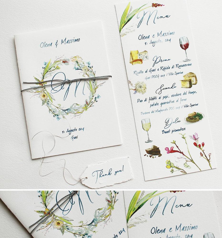 Custom Illustrated Wedding Menu