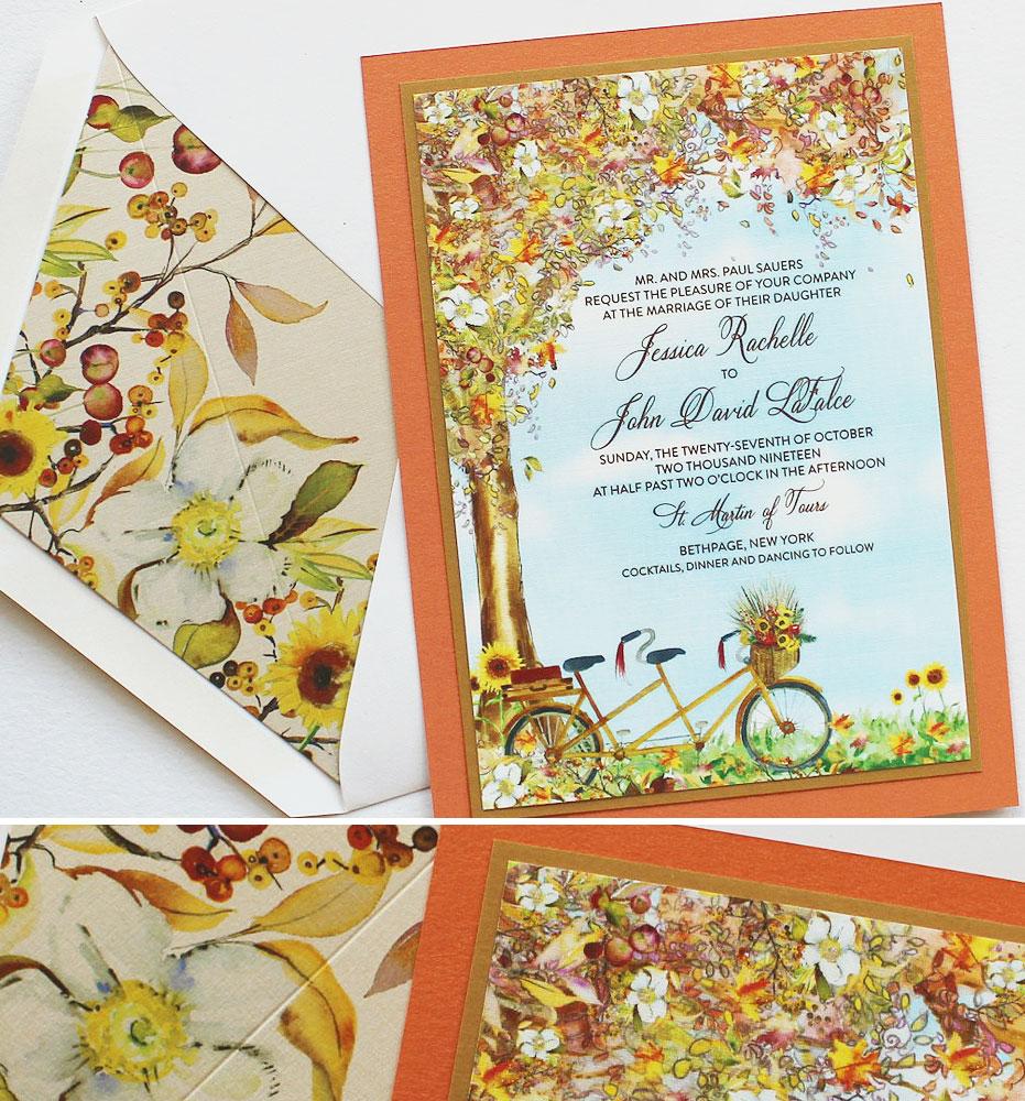 Fall Leaves Wedding Stationery