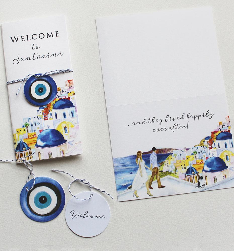 Santorini Wedding Stationery