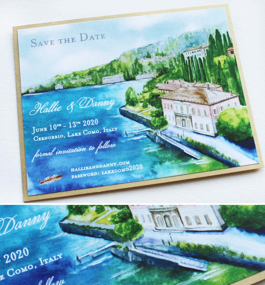 Lake Como Save the date