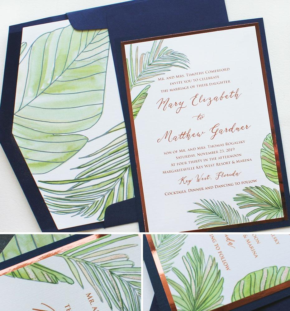 Palm Leaf Wedding Invitations