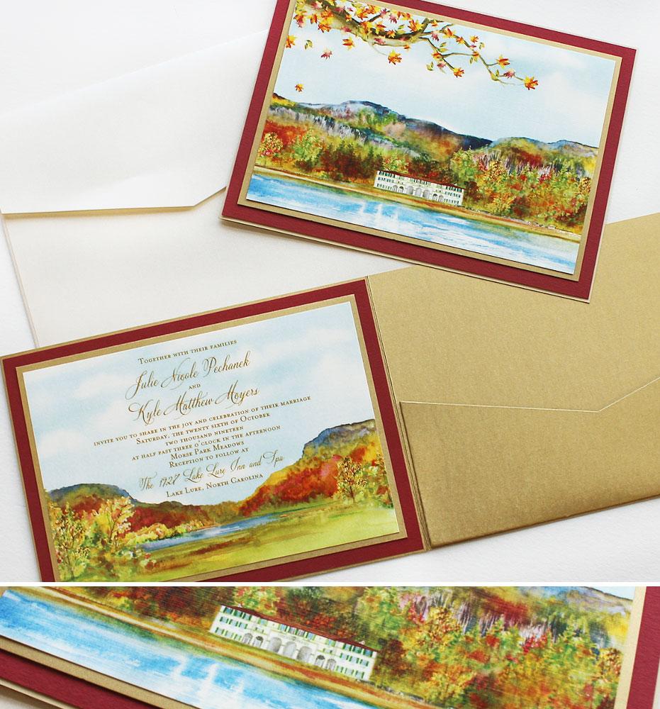 Fall Tree Wedding Stationery