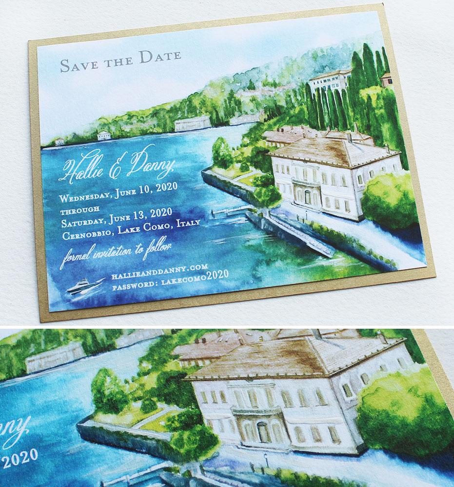 Lake Como Save the Dates