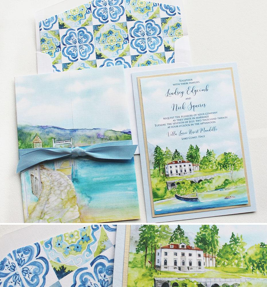 Lake Como Wedding Invitations