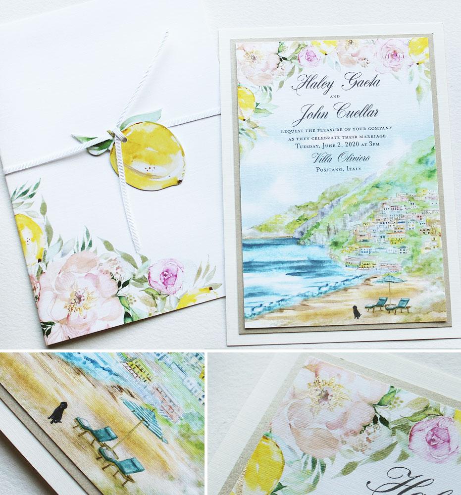 Positano Wedding Invitation