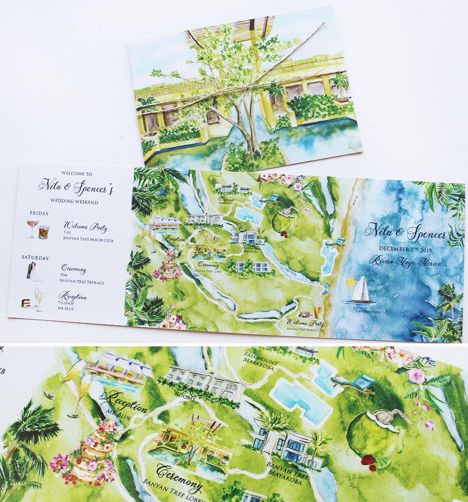 Riviera Maya Wedding Map Itinerary