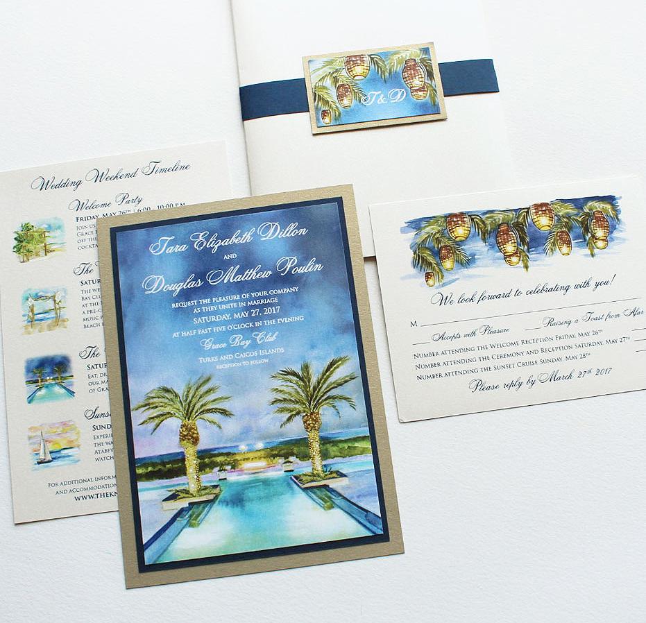 Palm Tree Wedding Stationery
