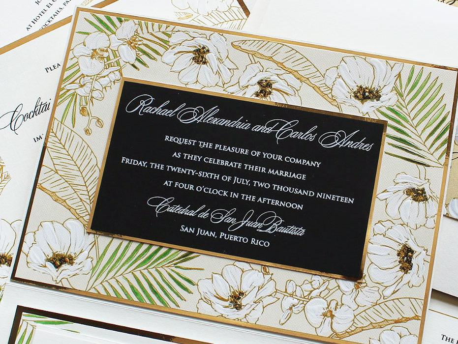 Elegant Tropical Wedding Invitations