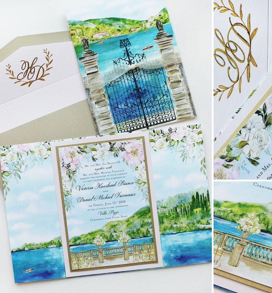 Villa Pizzo Wedding Invitations