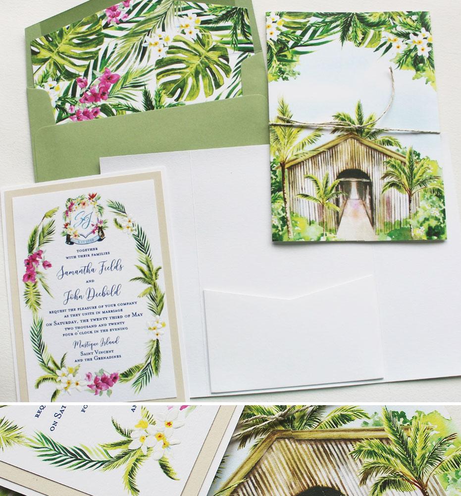 Caribbean Wedding Invitations