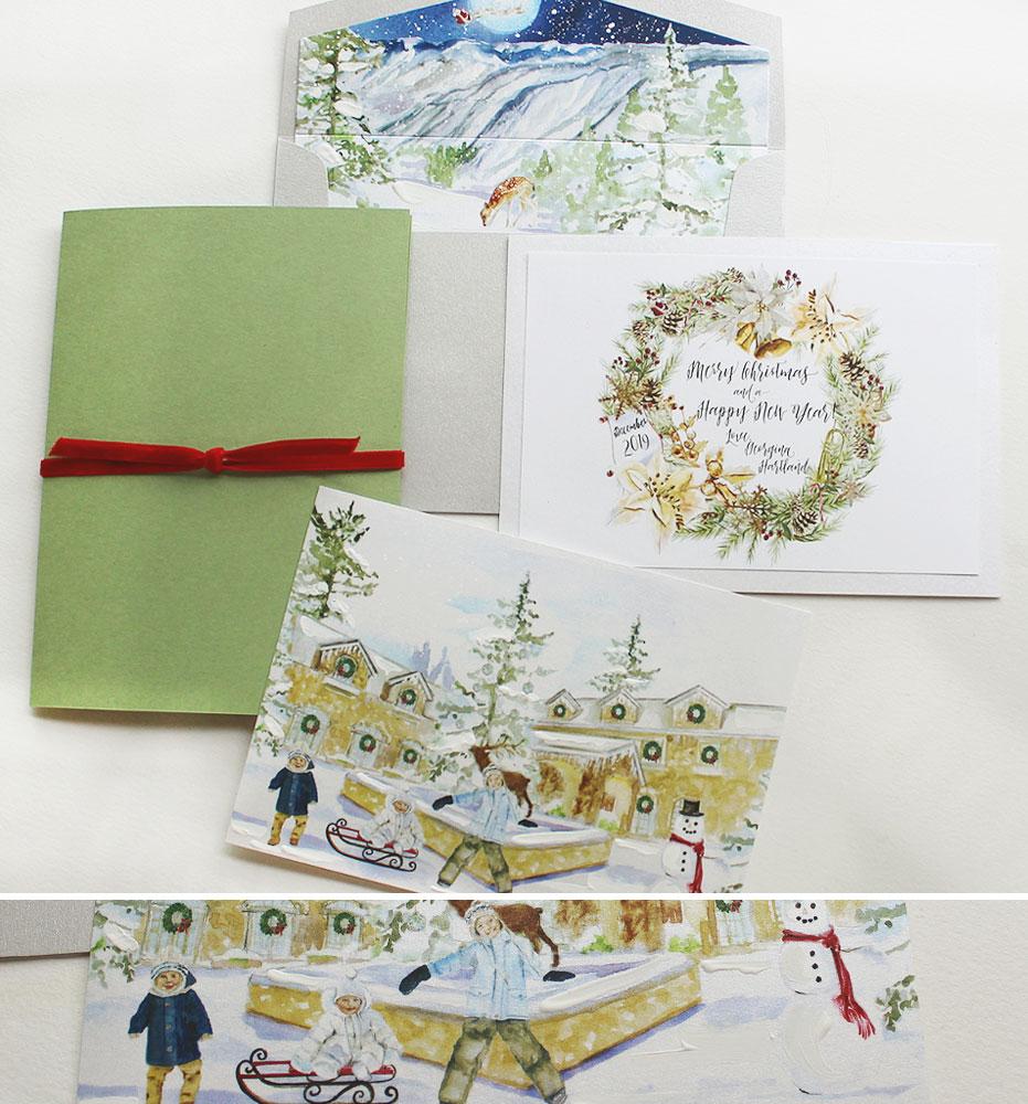 Custom Illustrated Christmas Card