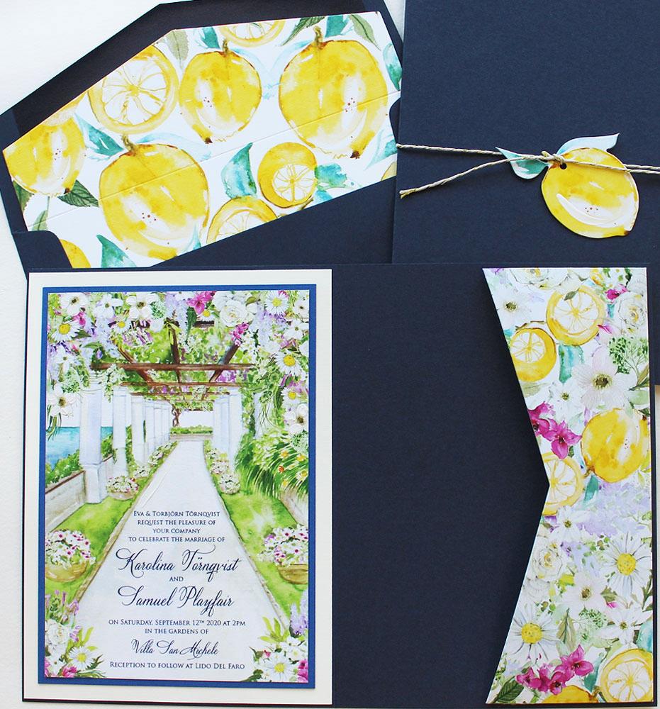 Italy Garden Wedding Invitation