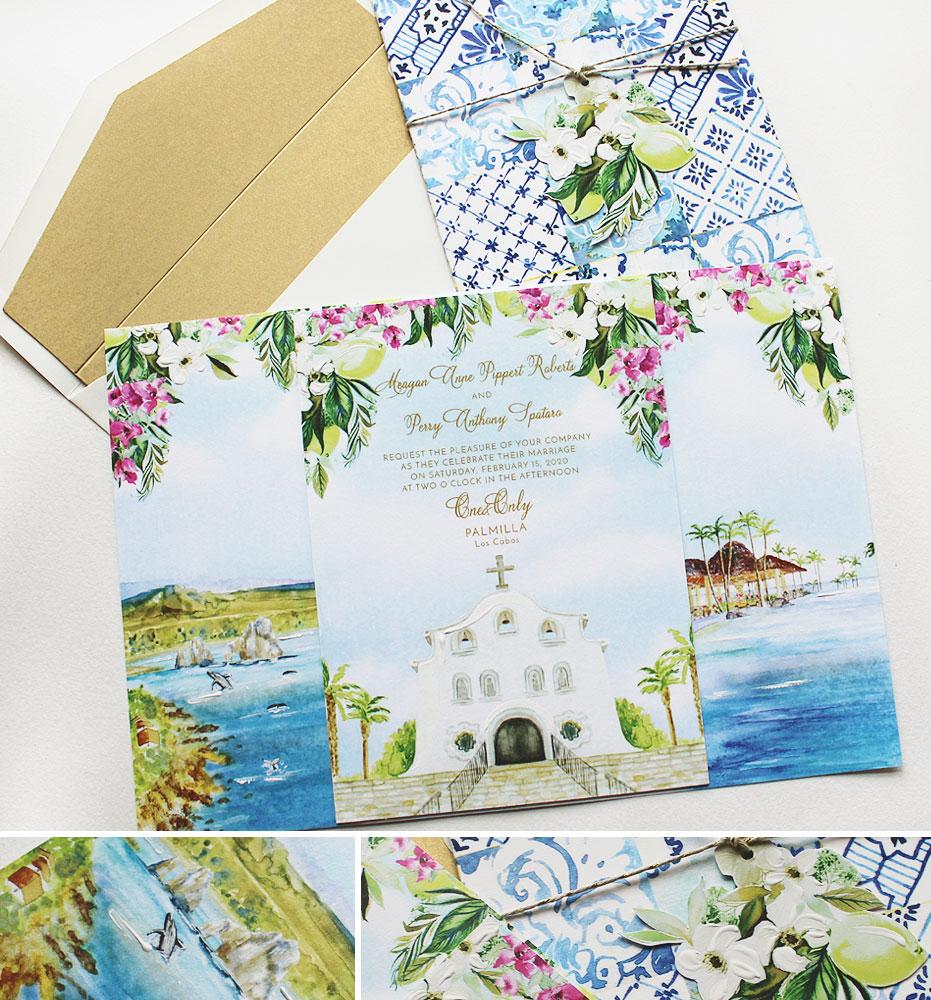 Los Cabos Wedding Invitation