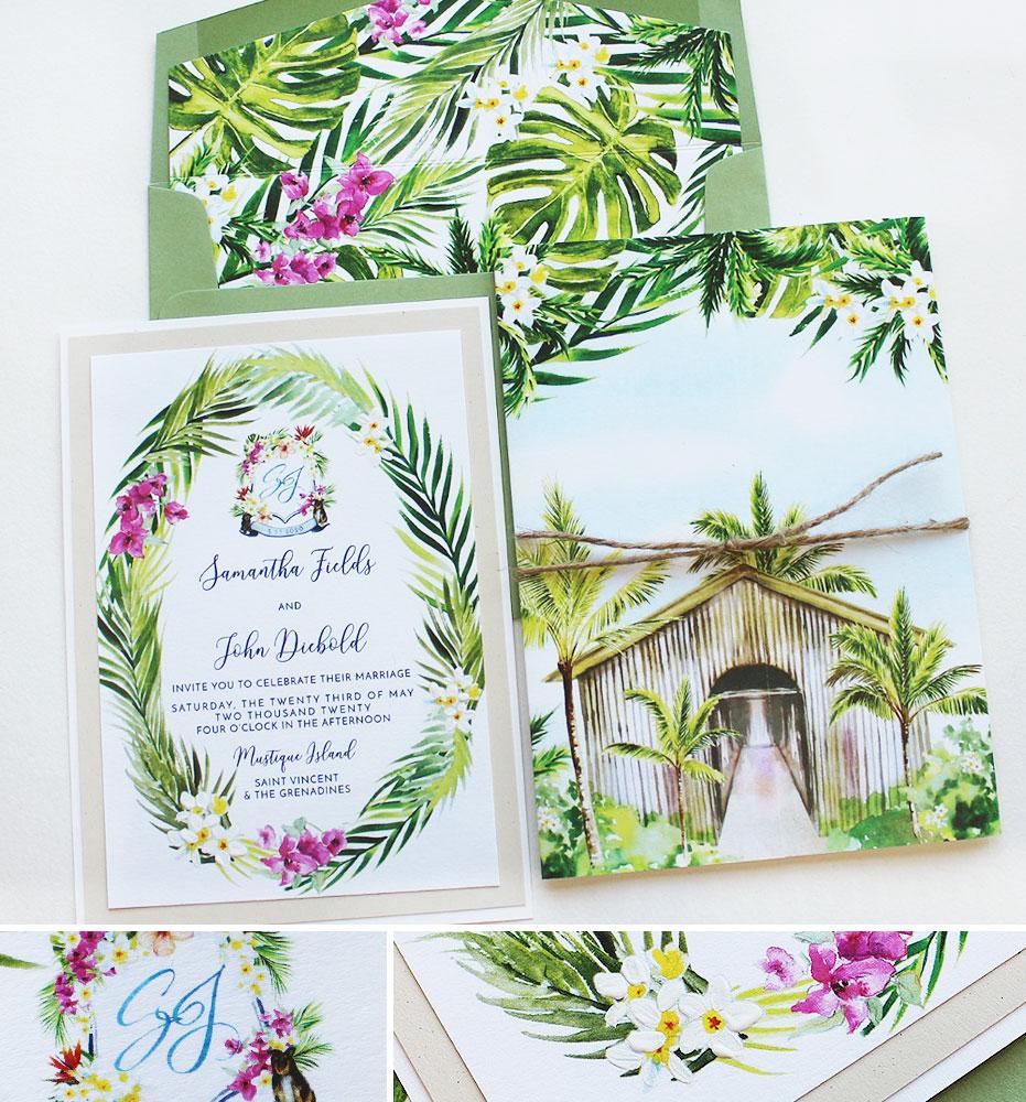 St Vincent Wedding Invitations