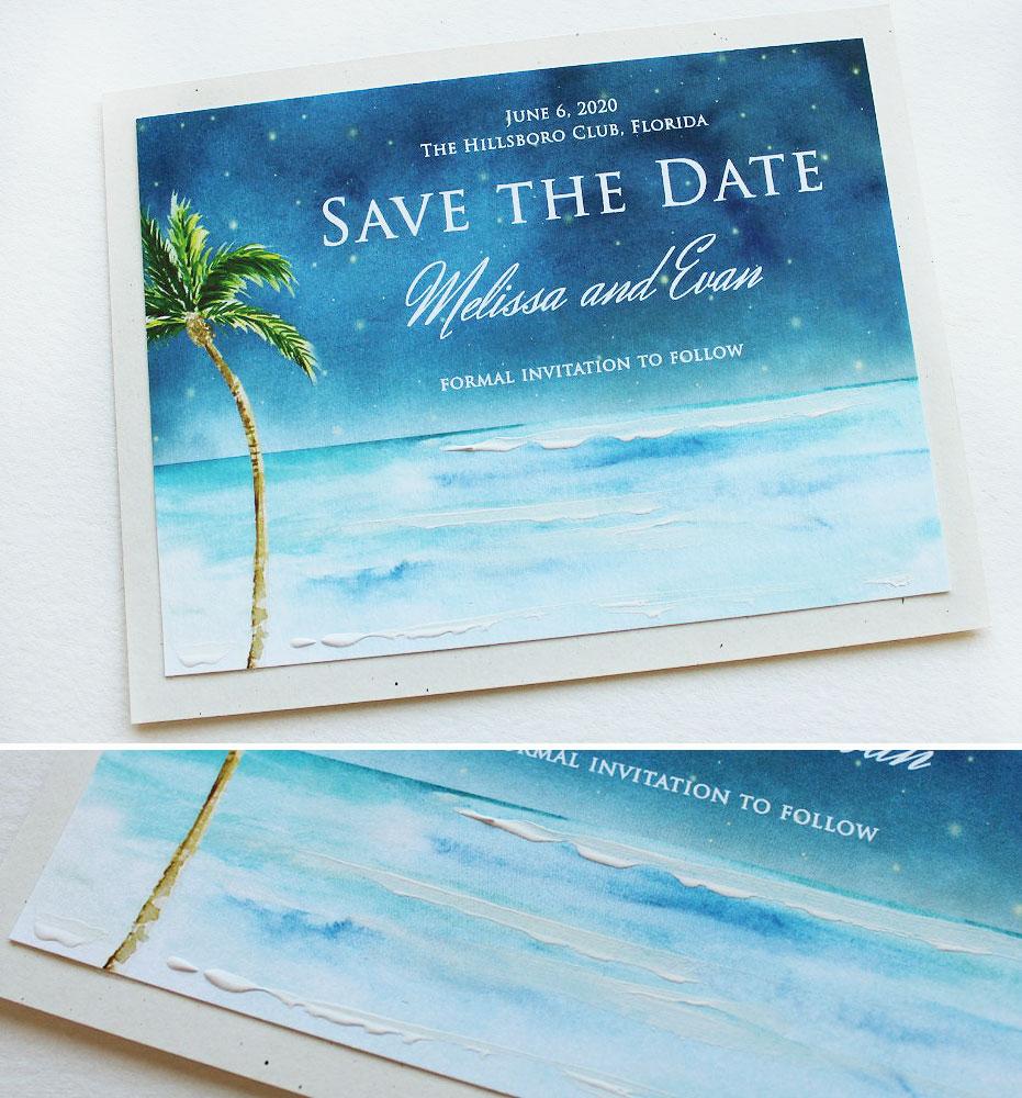 Watercolor Ocean Save the Date