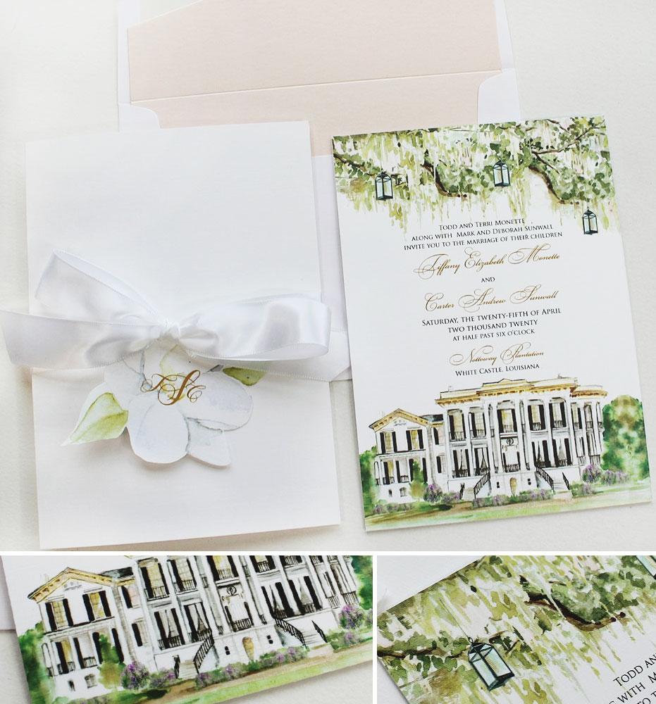 Nottoway Plantation Wedding Invitations