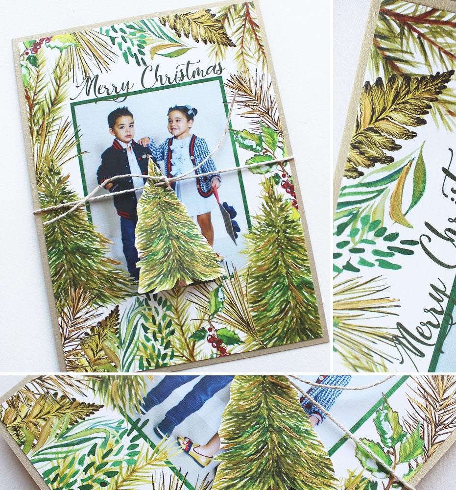 Pine Tree Holiday Photo Card