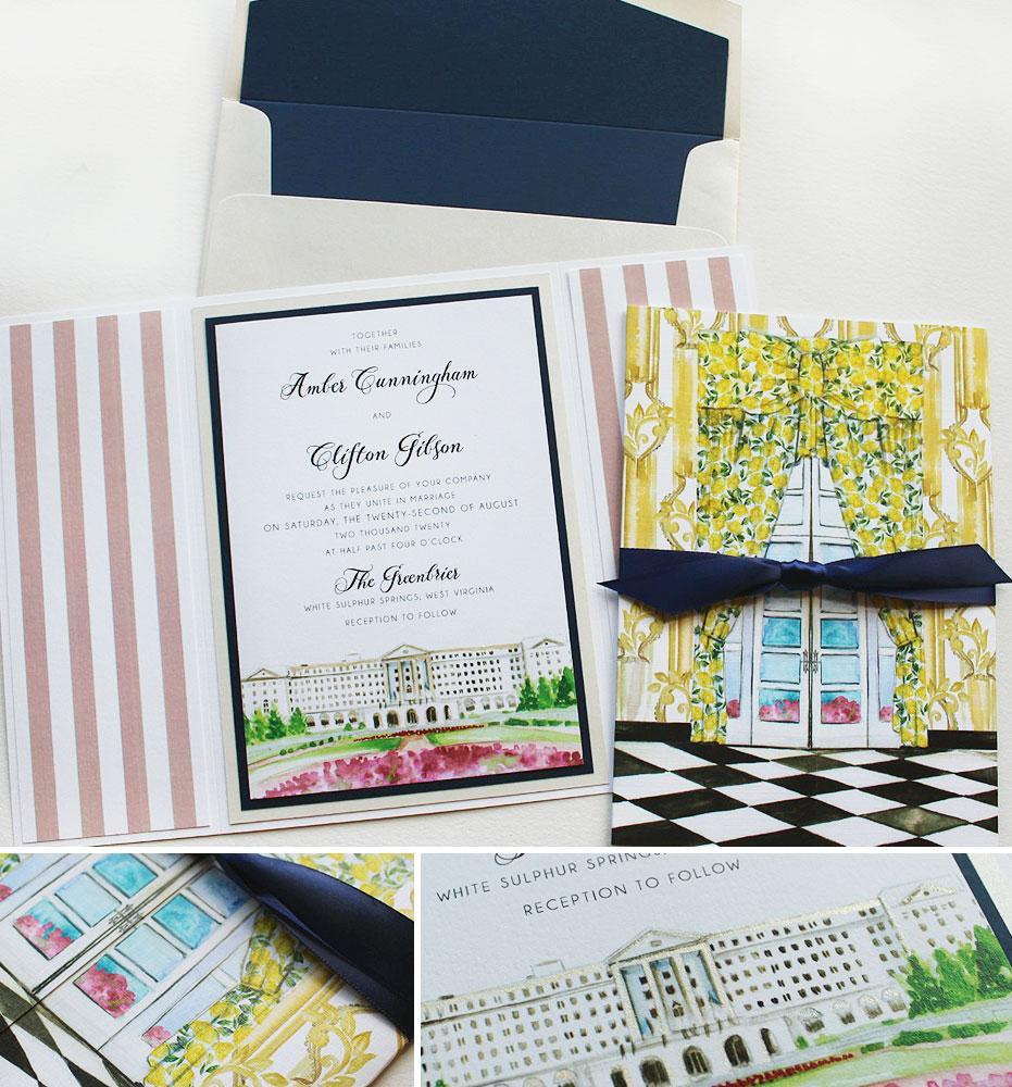 Greenbrier Wedding Invitations