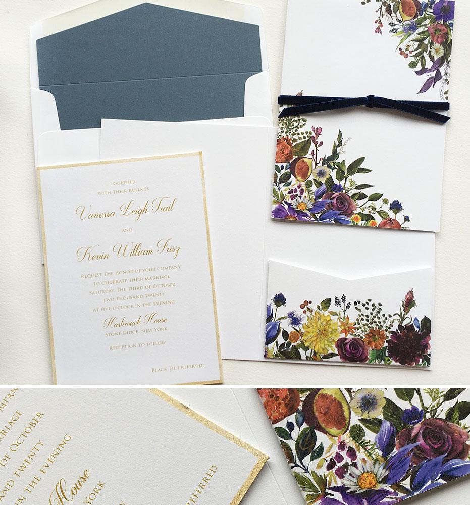 October Wedding invitations