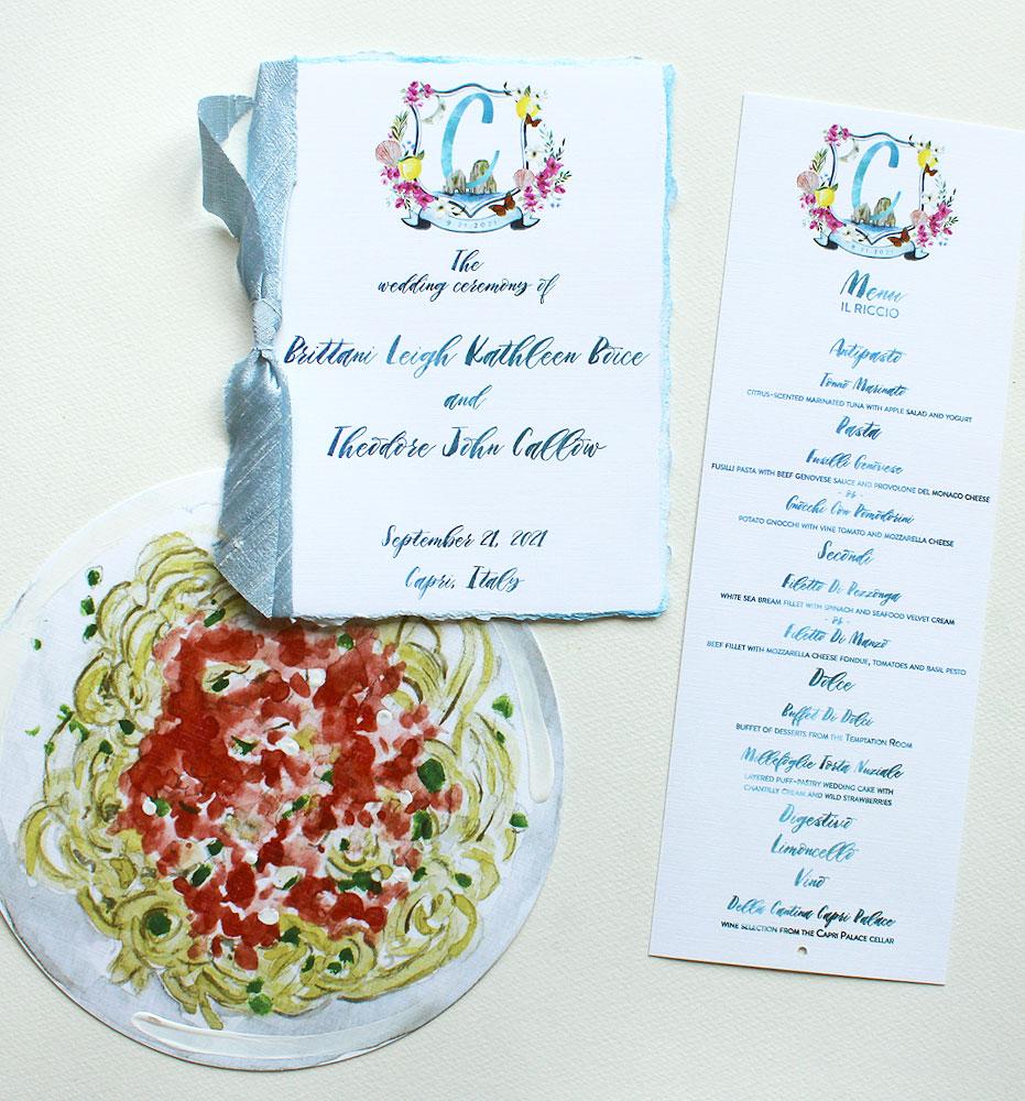 Custom Wedding Menus and Programs