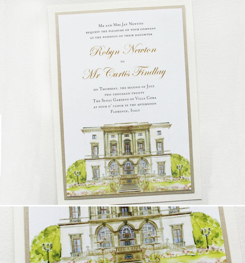 Florence Italy Wedding Invitations