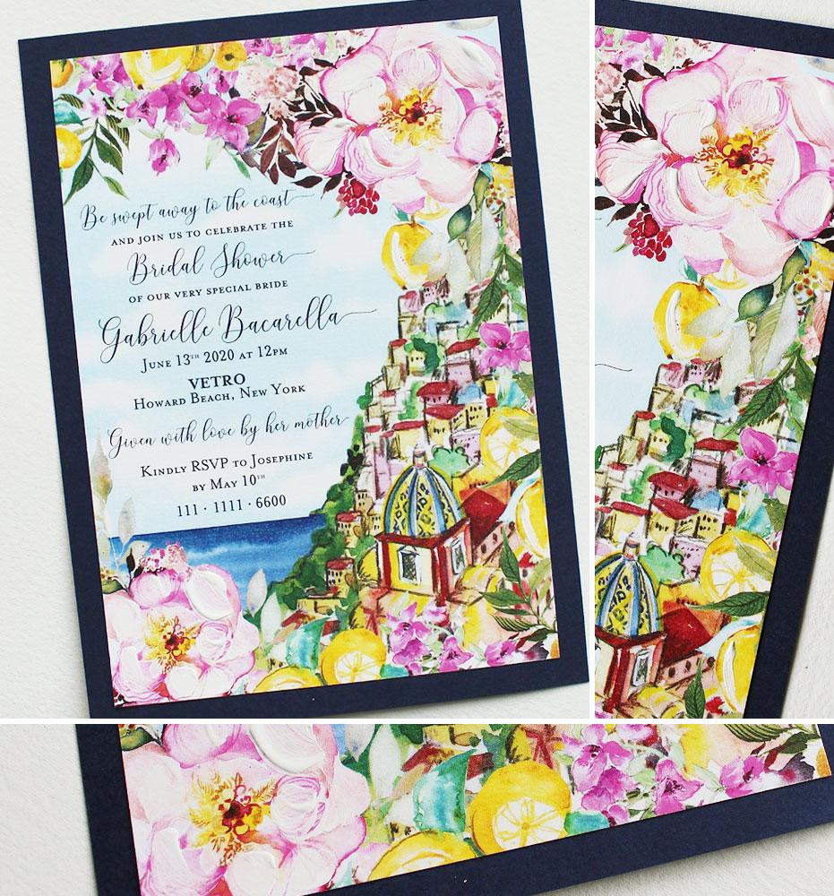 Italy Bridal Shower Invitations