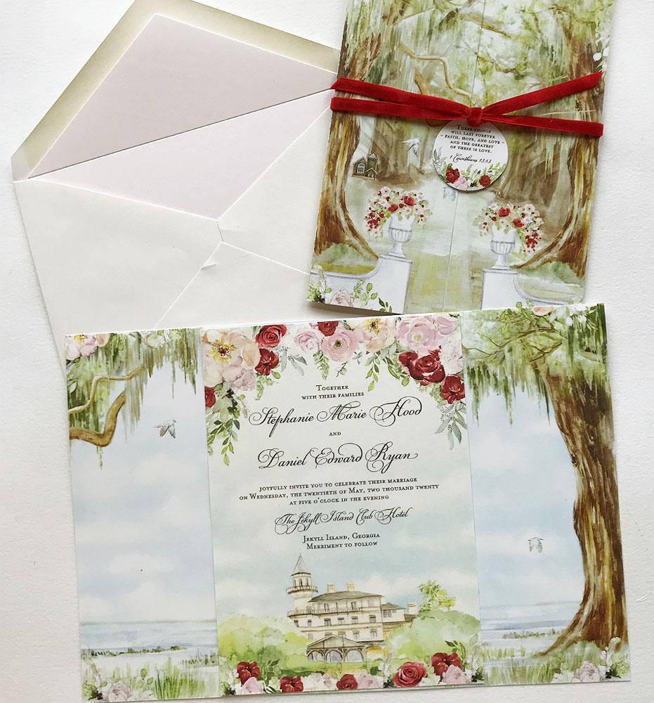 Jekyll Island Wedding Invitations