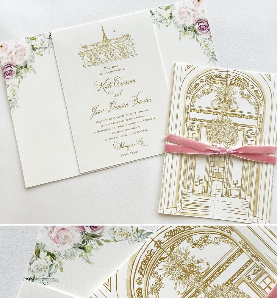 Paris France Wedding Invitations