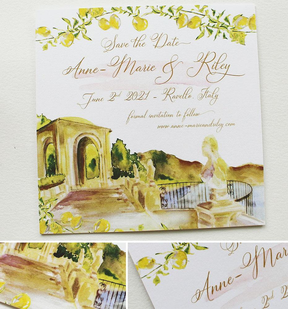 Ravello Italy Wedding Save the Dates