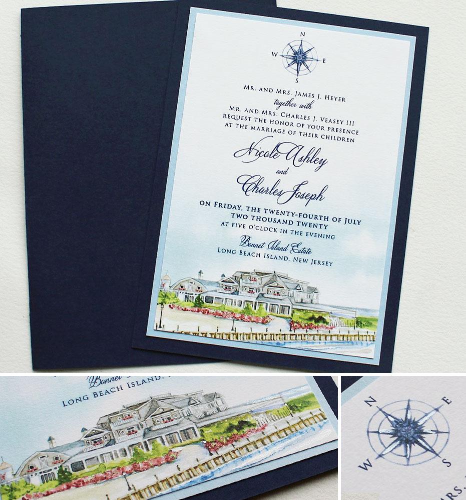 Bonnet Island Estate Wedding Invitations