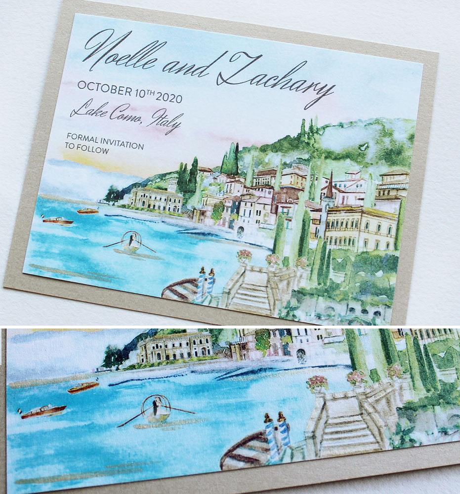Lake Como Wedding Save the Dates