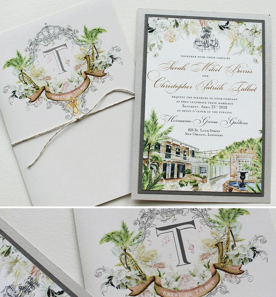 New Orleans Wedding Invitations