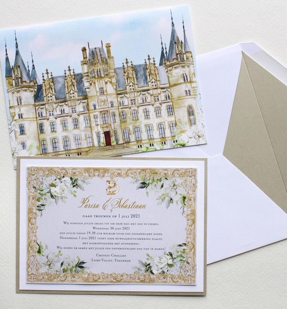 Loire Chateau Wedding Invitations