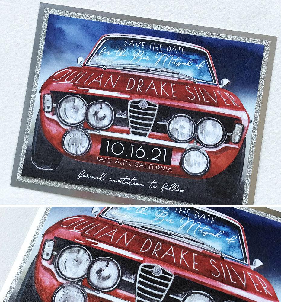 Car Bar Mitzvah Save the Dates