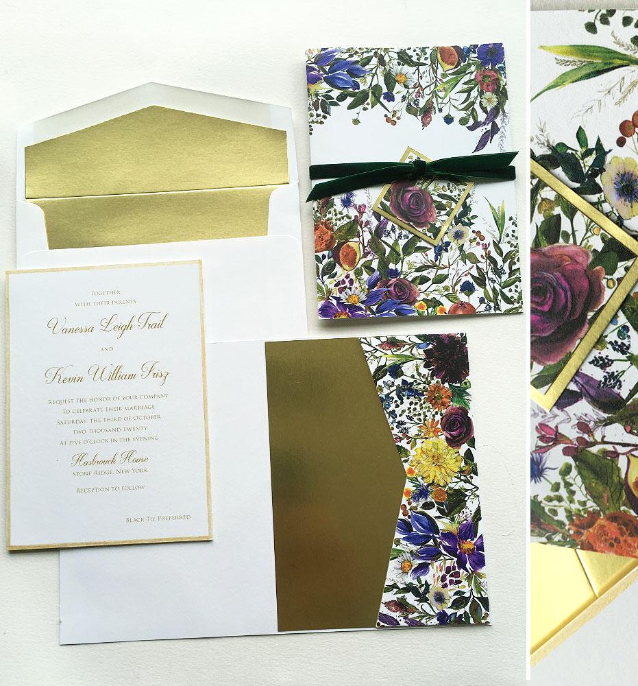 Autumn Botanical Wedding Invitations