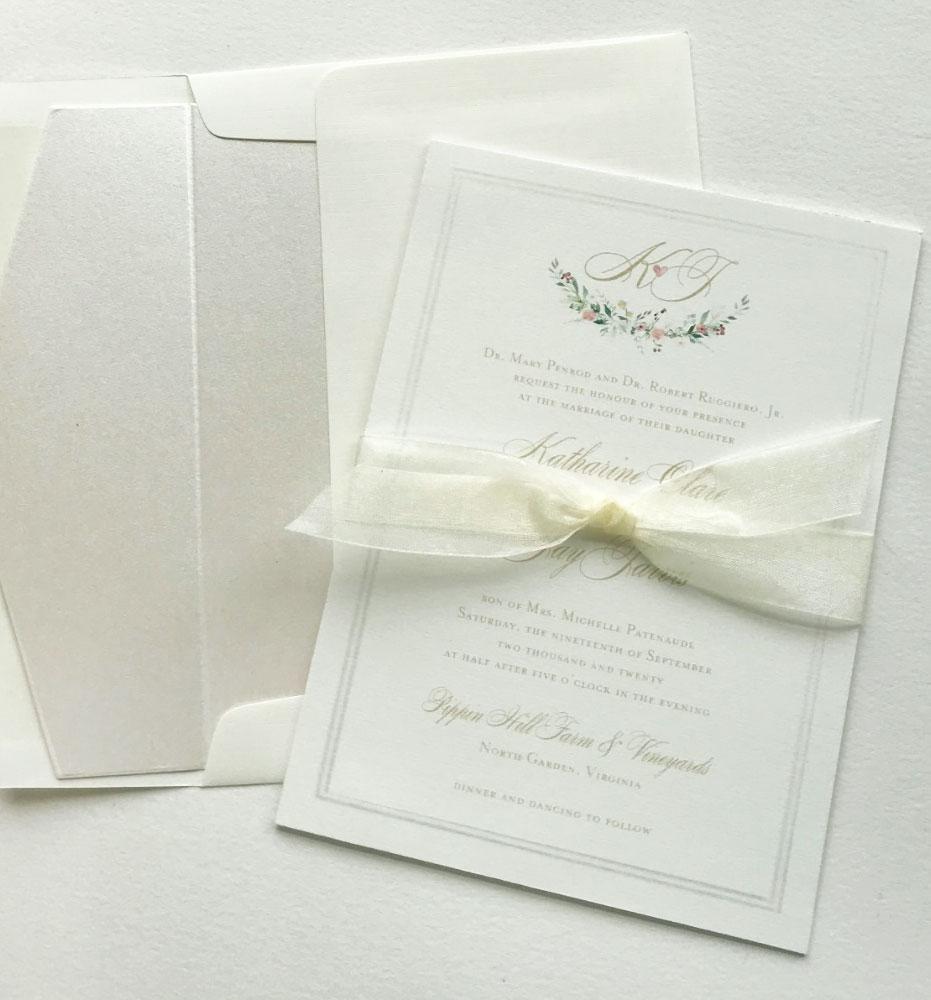 Custom Monogram Wedding Stationery