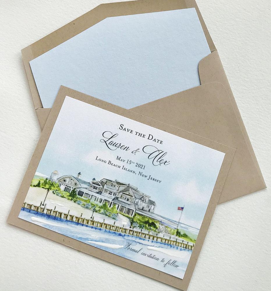 Long Beach Island Wedding Save the Date