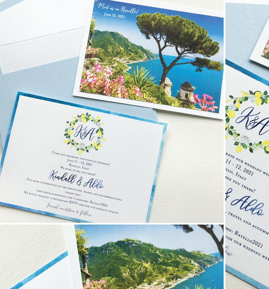 Ravello Wedding Save the Dates