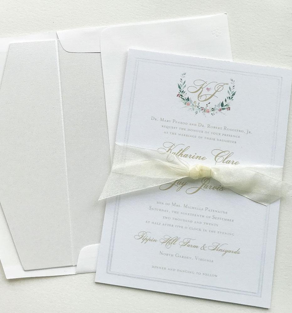 Soft Watercolor Wedding Invites