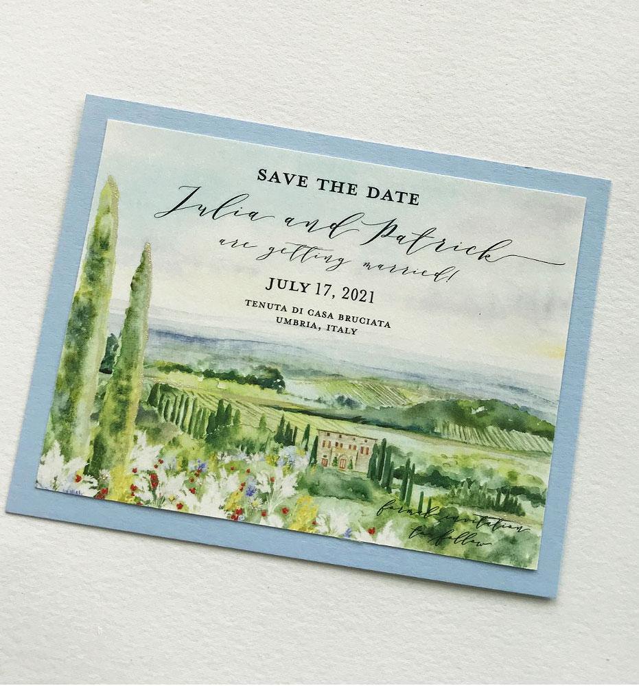 Umbria Italy Wedding Stationery