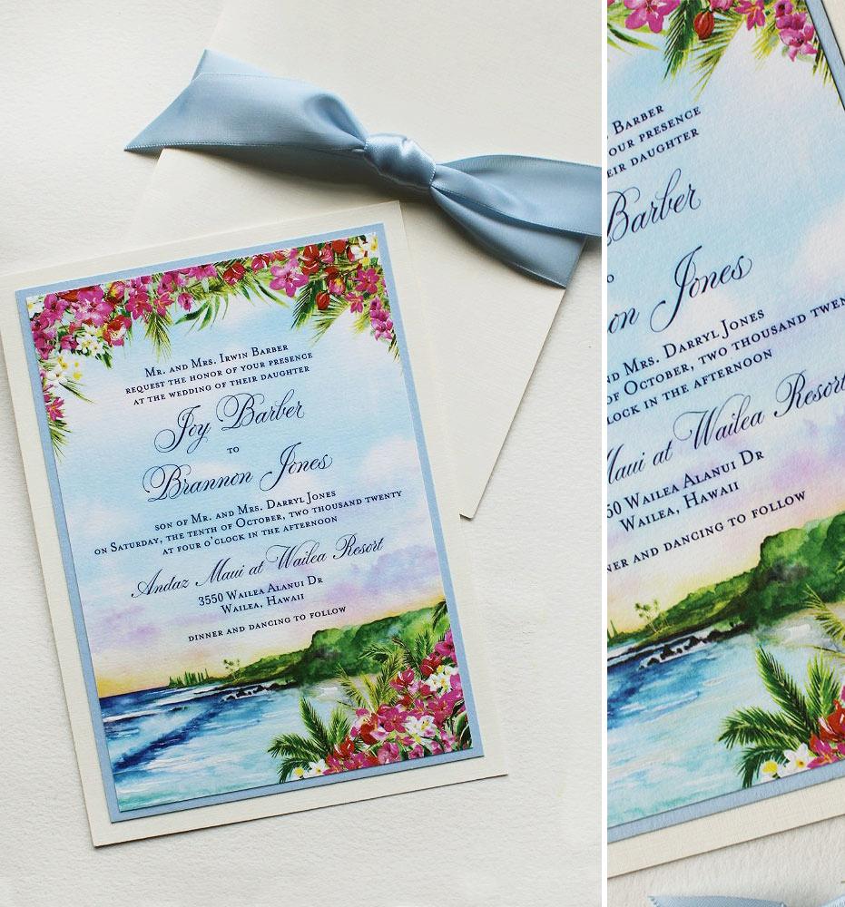 Maui Wedding Invitations