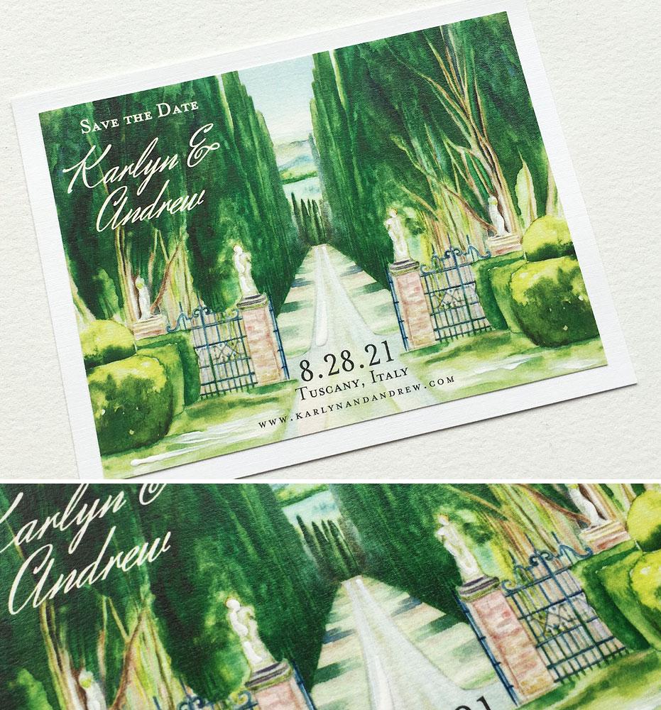 Tuscany Wedding Save the Date