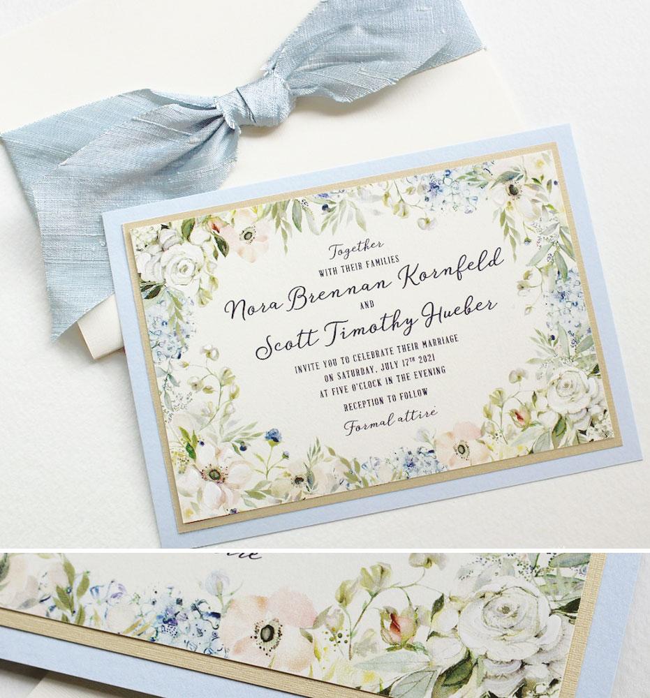 Soft Floral Summer Wedding Invitations