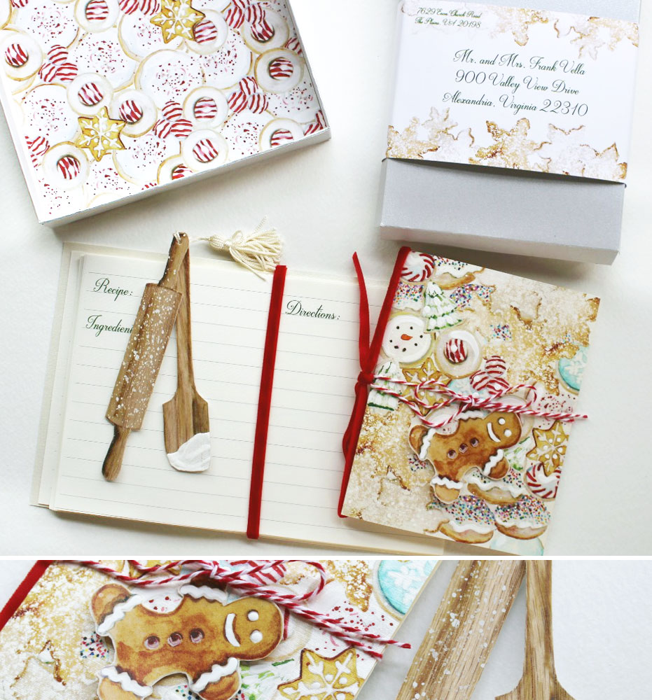 Watercolor Christmas Cookie Holiday Cards