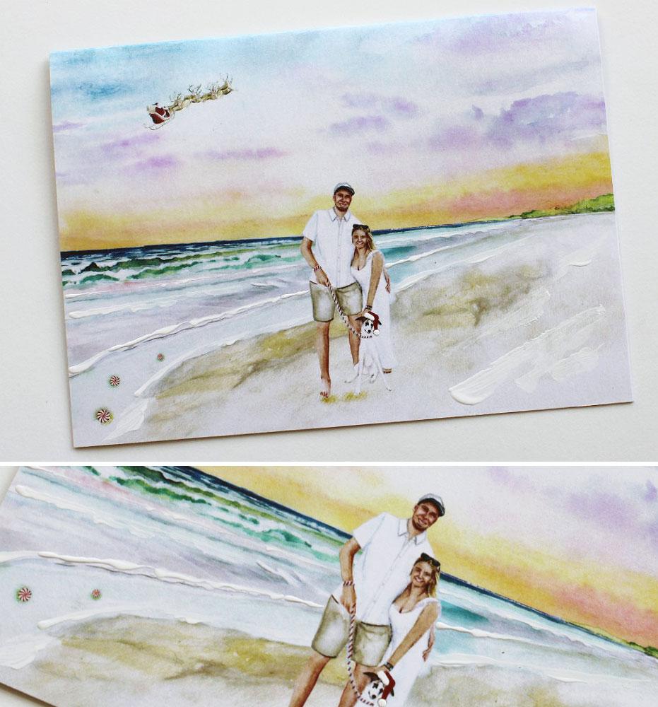 Custom Illustrated HOLIDAY CARDS