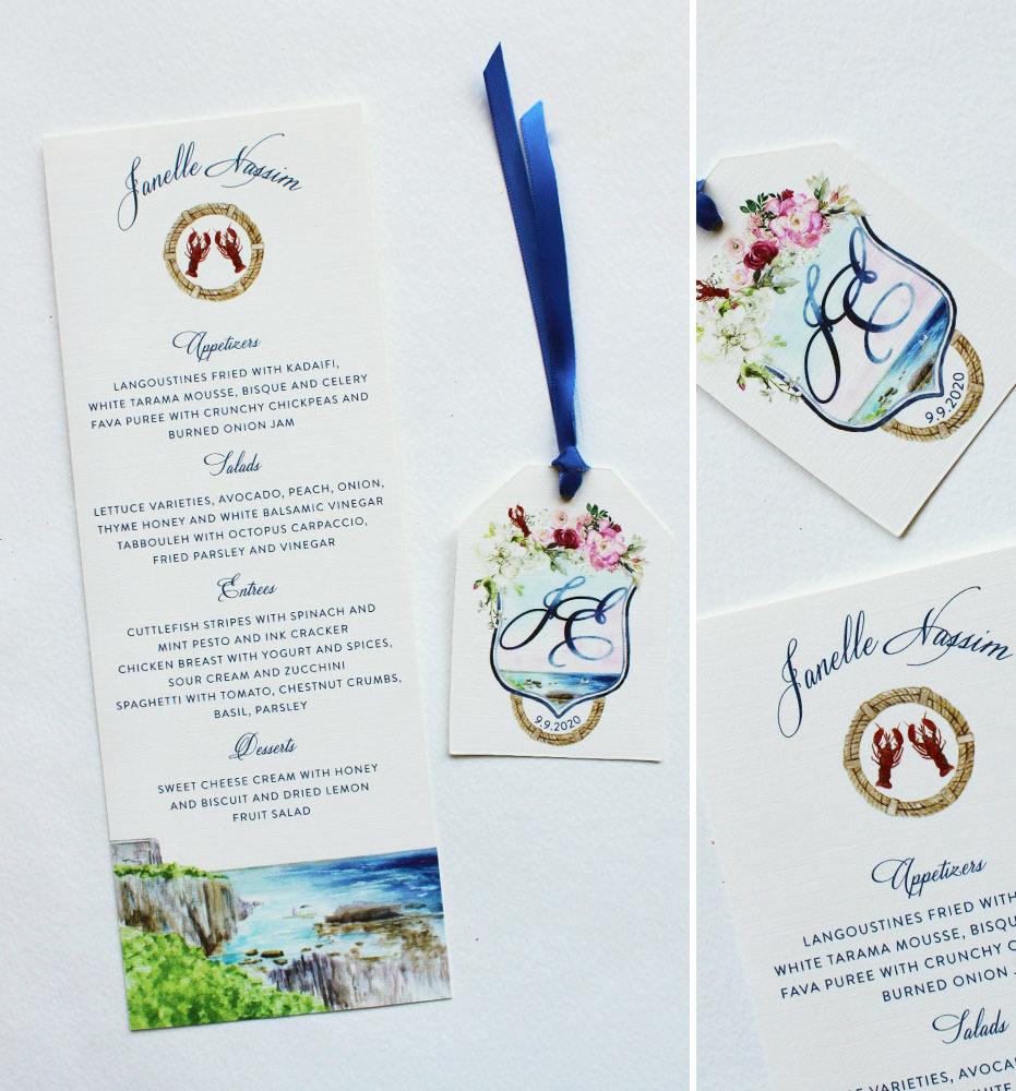 Nautical Ocean wedding Day Accessories