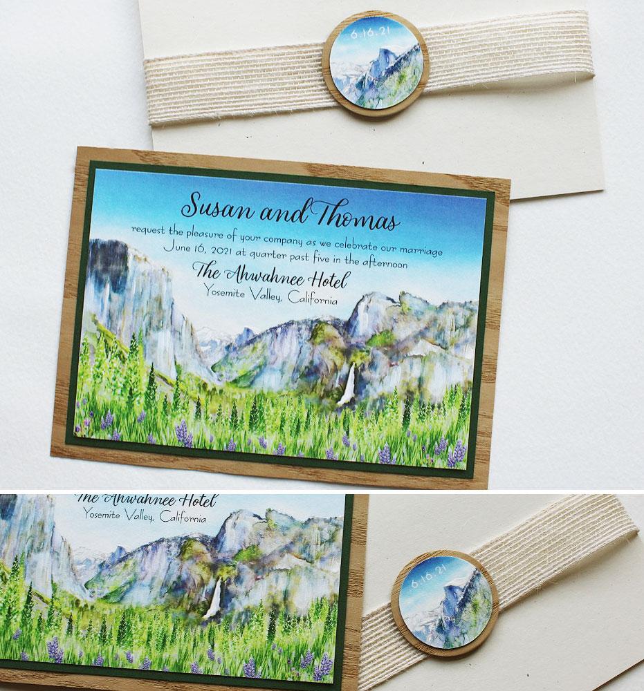Yosemite Landscape Wedding Invitations