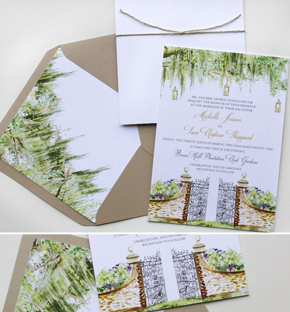 Plantation Wedding Invitations