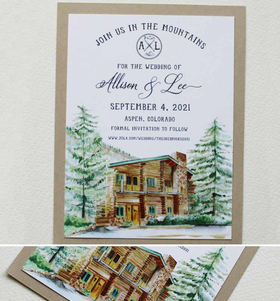 Aspen Colorado Wedding Save the Date